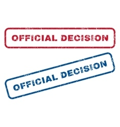 Official Decision Rubber Stamps vector