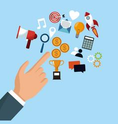 Online start up business vector