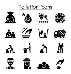 Pollution icon set graphic design vector