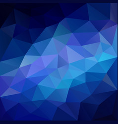 Polygonal square background neon blue vector