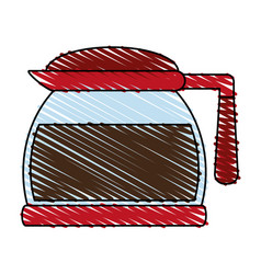 Pot coffee related icon image vector