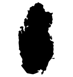 Qatar map eps10 vector