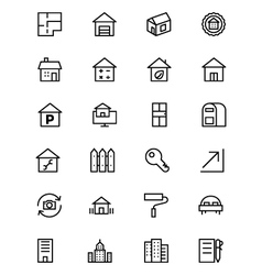 Real Estate Line Icons 3 vector image