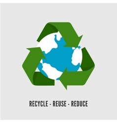 Recycling Earth concept Flat of vector image