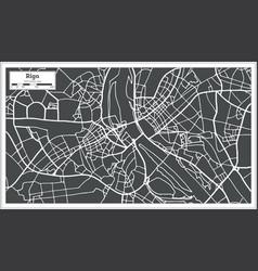 Riga latvia map in retro style vector