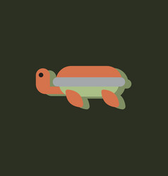 Sea turtle icon in sticker style vector