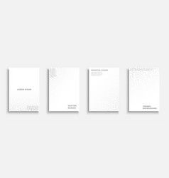 set abstract digital templates covers vector image