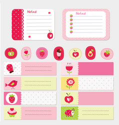 Set of baby cards and templates vector