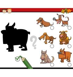 Shadows task for children vector