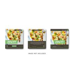 Social media instagram healthy food sale vector