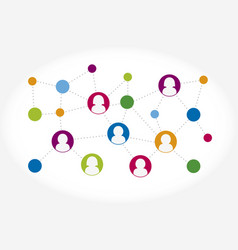 social network connection concept social media vector image