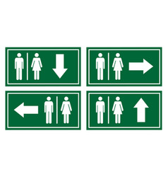 Toilet signage set vector