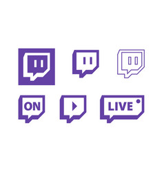 Twitch live gaming video icon logo design vector