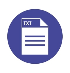 TXT file icon vector