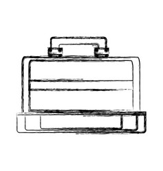 Vintage travel suitcase vector
