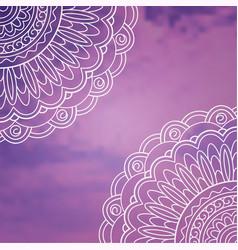 Violet retro pattern vector
