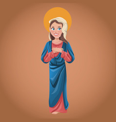 virgin mary spiritual catholic vector image