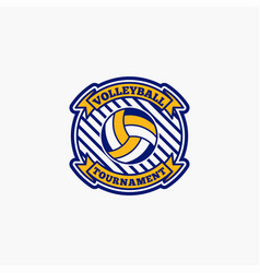 Volleyball club badge logo-12 vector
