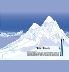 Winter mountains snowy landscape mountains vector