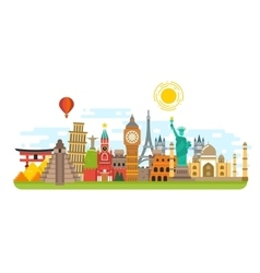 World famous travel landmark international vector