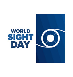 World sight day holiday concept template for vector