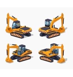 Yellow excavator Special machinery vector