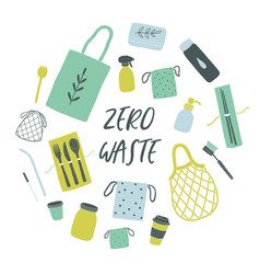 zero waste items vector image