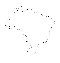 abstract schematic map of brazil from the black vector image