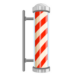 barber pole sign on white background vector image