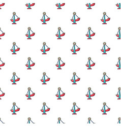 boat swing pattern seamless vector image