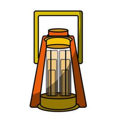 Camping light lamp vector