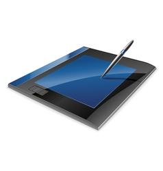 graphic tablet vector image