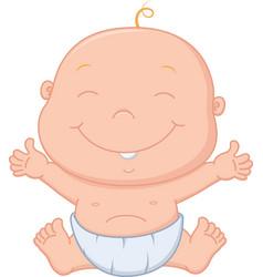 happy baby boy cartoon vector image