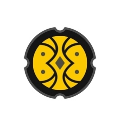 Medieval round shield icon flat style vector image