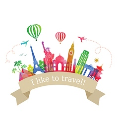 Travel and Tourism Label vector image