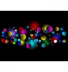 bokeh light effect background vector image vector image