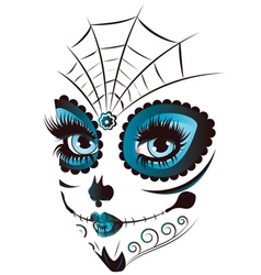Day of Dead Girl Face vector image vector image