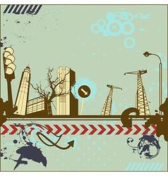 Grunge urban card vector image
