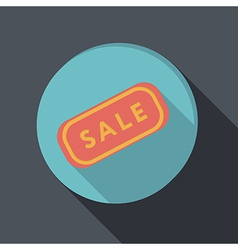 paper flat icon plate sale vector image vector image