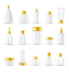 Cosmetic Packaging Design Set vector image