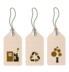 Eco tags set isolated on white vector image vector image