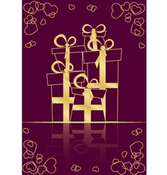 Greeting Card with gifts vector image