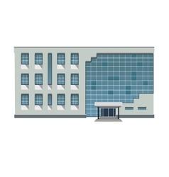 modern building vector image