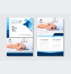 template design brochure set annual report vector image vector image