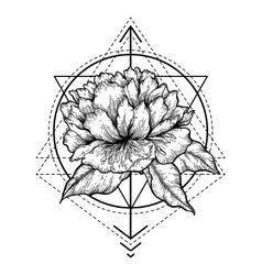 Abstract floral tattoo vector image vector image