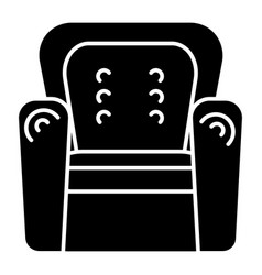 armchair icon black sign on vector image vector image