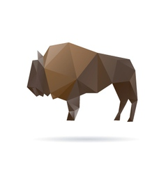Buffalo abstract isolated on a white backgrounds vector image
