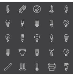 Bulbs icons set vector image