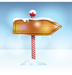 Christmas Holiday Wooden Sign vector image