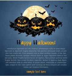 Halloween background with spooky pumpkins vector image